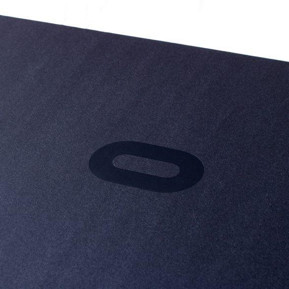 "Oculus Rift box with black ""O"" logo"