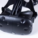 Alternative view of the HTC Vive from the top, front.