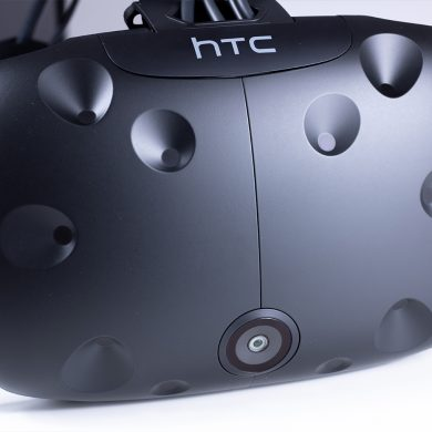 Front of the HTC Vive VR Headset.