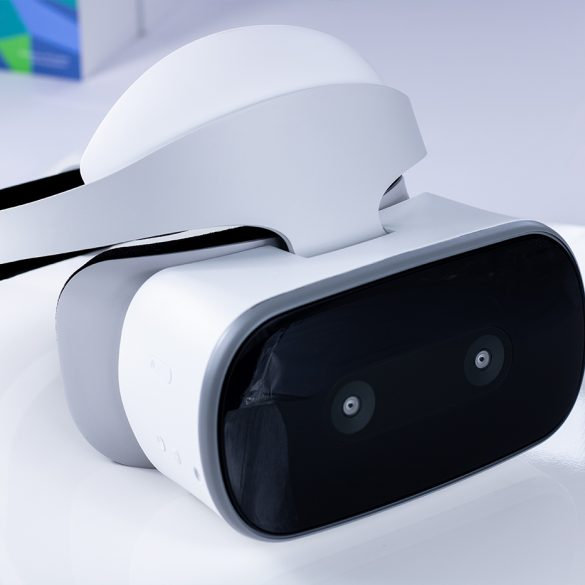 Standalone shot of the Lenovo Mirage Solo Virtual Reality headset.