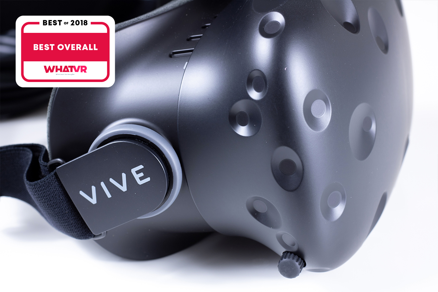 Vive HTC with WhatVR award of best overall VR headset in 2018.