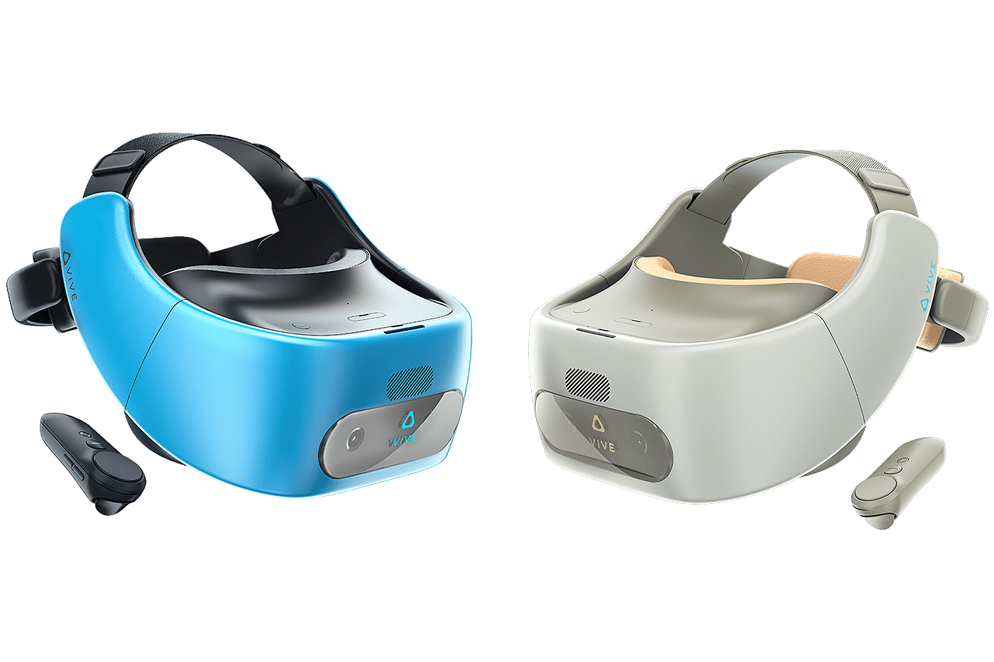 Vive Focus Models - Blue and Almond Colours.