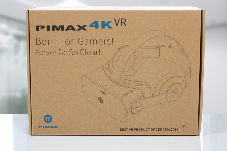 Pimax 4K, front of retail box.